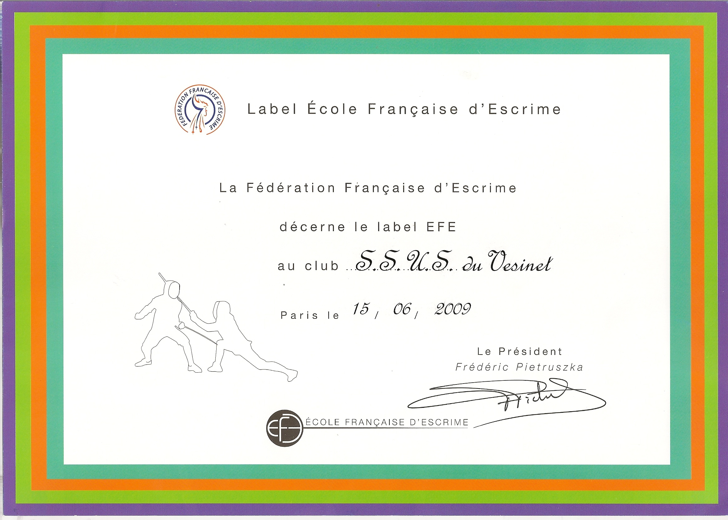 Label Ecole Franaise dEscrime